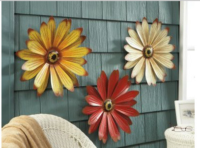 Metal Wall Flower 3-d metal wall flowers - other -lillian vernon