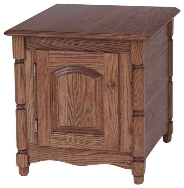 storage end tables for living room. Solid Oak Country Style Storage End Table  Autum traditional side tables Traditional Side