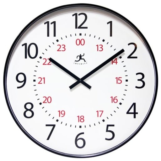Mercantile Large 24 Hour Clock 20 Quot Contemporary Wall