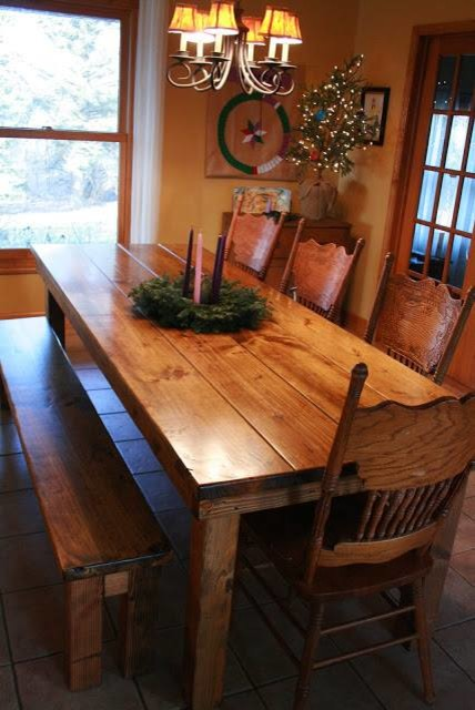 James 8 Farmhouse Table In Early American Stain