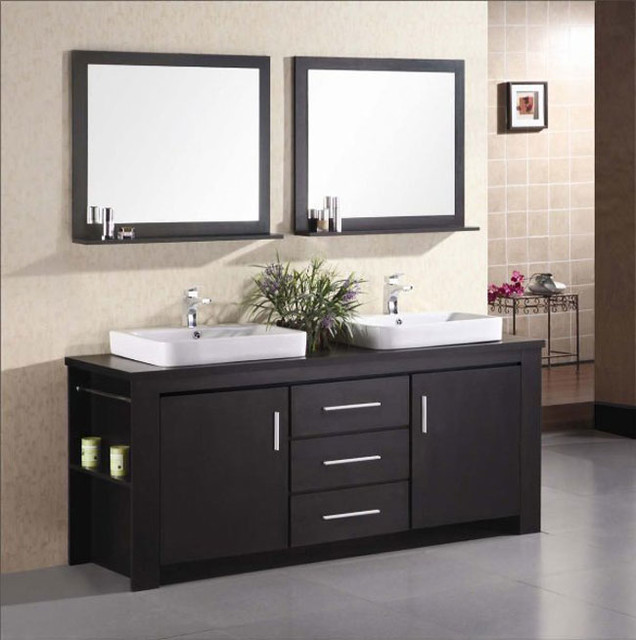 Bathroom Cabinet Design With Square Wooden Mirror And Towel Bar