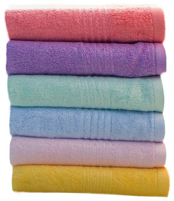 Bamboo Fibre Towel Set Soft And High Quality Towels 6 Pack