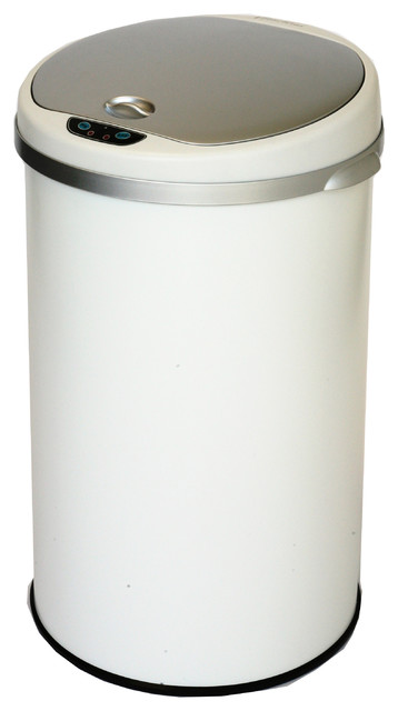 Itouchless Deodorizer Round Sensor Trash Can Matte Finish