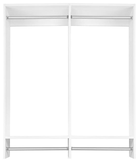 4&x27; Double Hanging Modular Closet Organizer, Driftwood Gray.