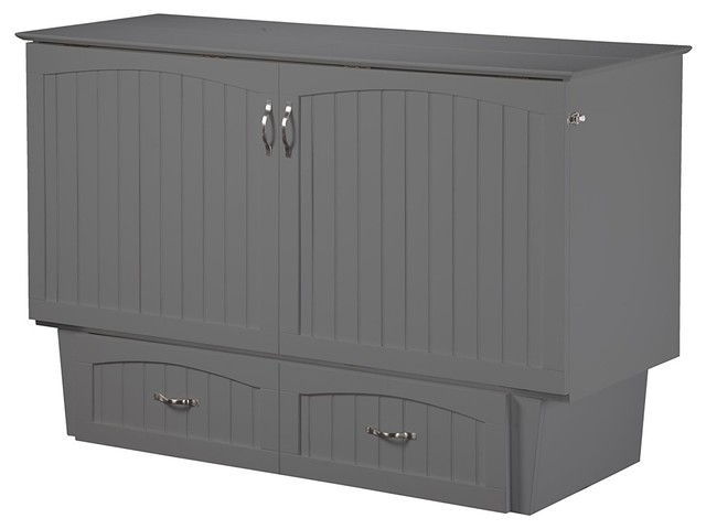 Nantucket Murphy Bed Chest , Atlantic Gray, Twin.