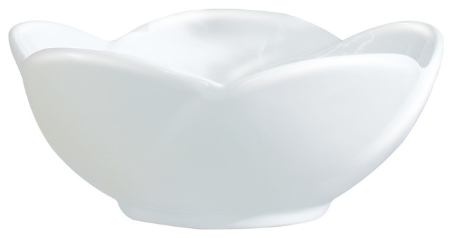 Vitreous China Round Flower Vessel Sink White 16