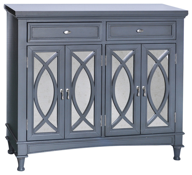 Crestview Collection Park Avenue Grey & Mirror Sideboard - Buffets And Sideboards | Houzz