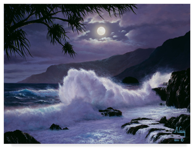Quot Large Waves Quot By Anthony Casay Canvas Art Tropical