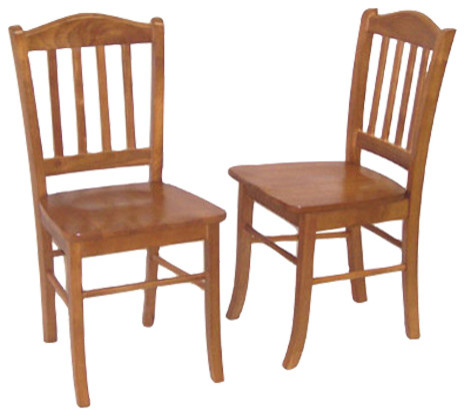 Charleston Chairs, Set of 2, Oak