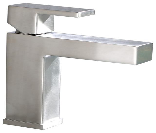Luxier Single-Handle Modern Bathroom Sink Faucet, Brushed Nickel