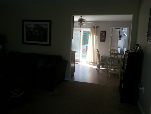 I Attached Pics Of My Living Room Dark Brown Couch Love Seat Multi Colored Side Chair Tan Carpet Opens To Kitchen Which Is Painted Benjamin Moore