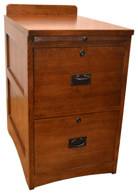 Mission Solid Oak 2-Drawer File Cabinet - Craftsman - Filing Cabinets - by Crafters and Weavers