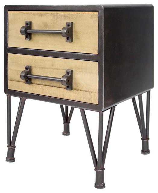 Soho 2-Drawer End Table/nightstand