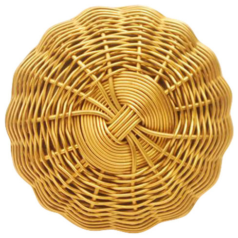 Metal Wire Knobs, Gold And Metal Large, Set of 2 - Cabinet ...