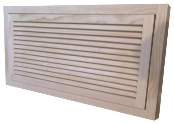 """Wood Return Air Filter Grille, 30""""x15"""", Standard Square Edge."""