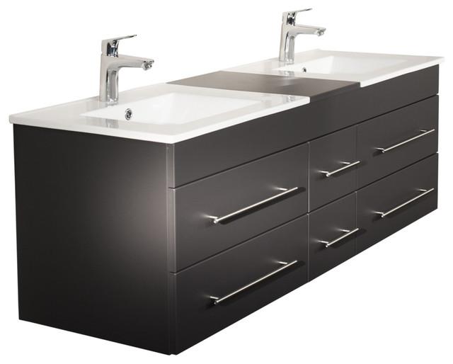 Emotion Roma Bathroom Furniture, 150 cm, Anthracite Semi-Gloss