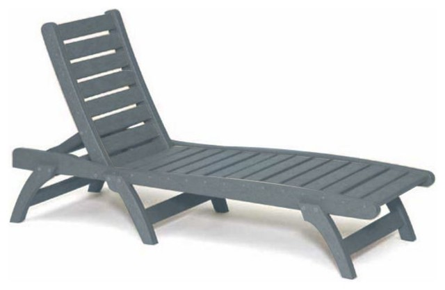 Pin plastic patio lounge chairs recycled outdoor on pinterest for Chaise longue jardin pvc