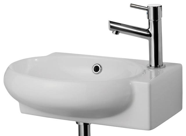 Bathroom Sink Brands : ... brand AB107 Small Wall Mount Porcelain Bathroom Sink - Bathroom Sinks
