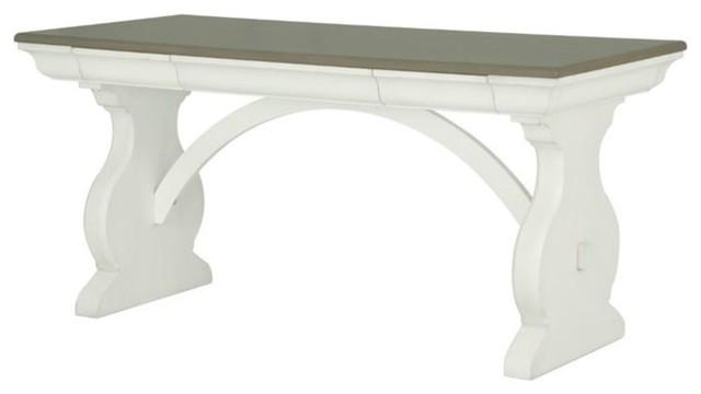 Surprising Magnussen Hancock Park Trestle Home Office Desk Oak And White Gamerscity Chair Design For Home Gamerscityorg