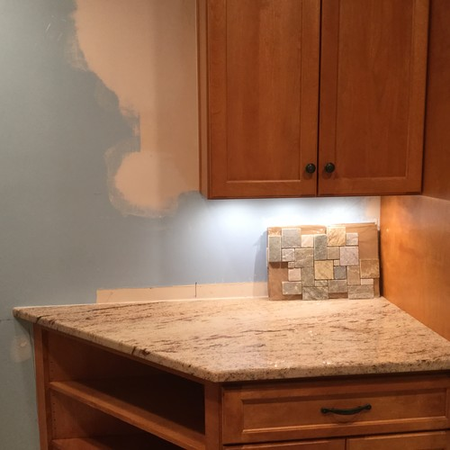 Backsplash End At Cabinet Or Bring To Counter Edge