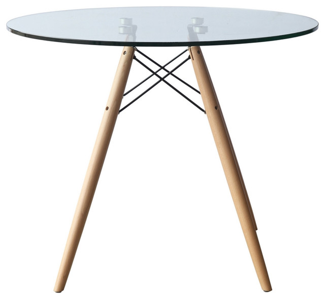 Fine Mod Imports Wood Leg Dining Table 29