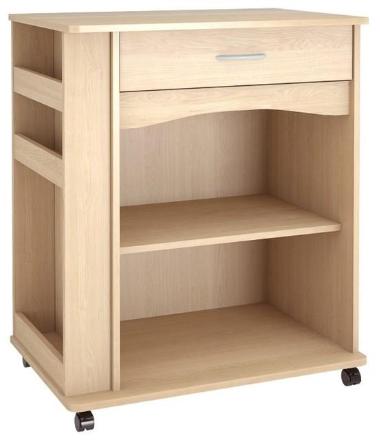 nexera 1 drawer mobile microwave cart transitional kitchen islands and kitchen carts by nexera. Black Bedroom Furniture Sets. Home Design Ideas