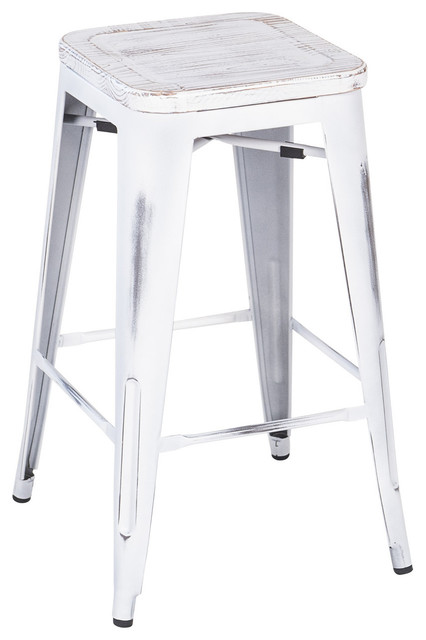 Joseph Allen Metal Industrial Stool Reclaimed Antique