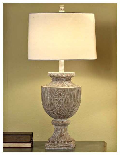 Crestview Collection CVAUP523 Avalon Carved Wood Table Lamp ...