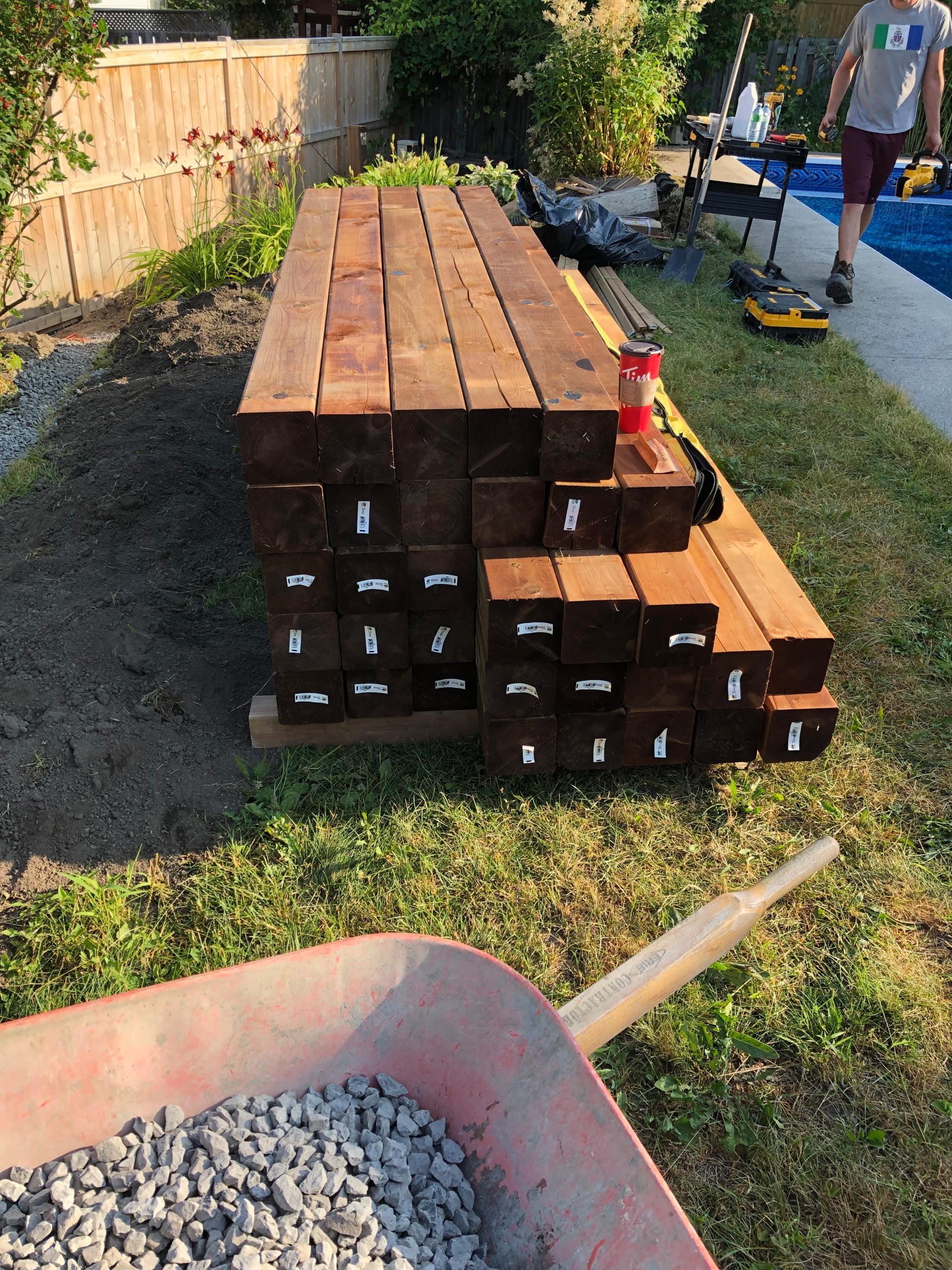 6 x 6 retaining wall