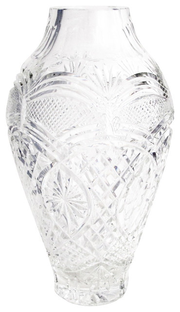 Hand Cut 24 Lead Crystal Vase Emma Pattern Traditional Vases By Orourke Cut Glass