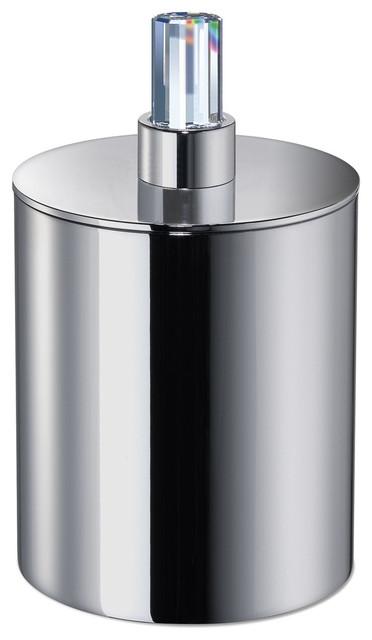 Shop houzz w luxury concept round cotton ball q tip for Bathroom q tip holder