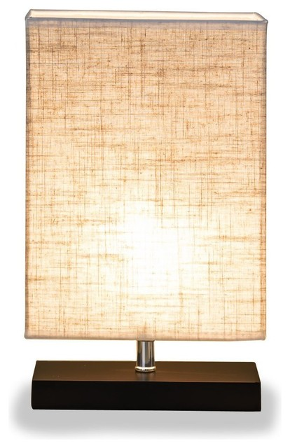 Retro Solid Wood And Fabric Shade Relax Lighting Reading Table Lamp.