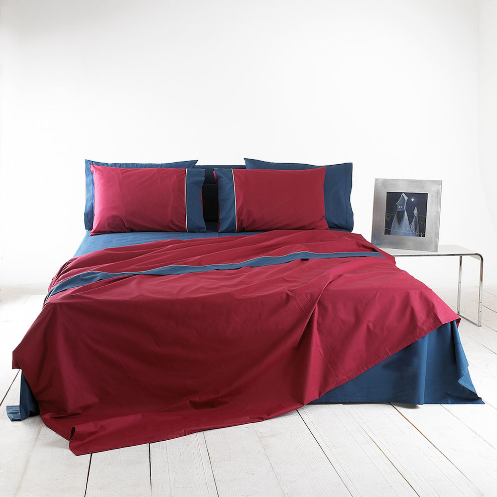 Cotton Sheet Set With Contrasting Border