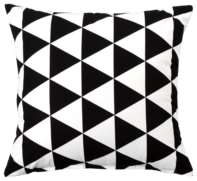 Becca Black And White Throw Pillow Cover Contemporary Decorative Pillows By Silver Fern Decor