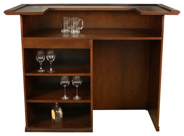 American Heritage Trenton Bar in Suede - Traditional - Wine And Bar Cabinets - by Beyond Stores