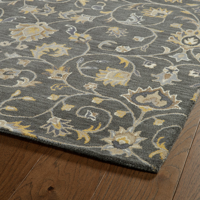 Wendell Hand-Tufted Wool Rug, Gray, 8&x27;x10&x27;.