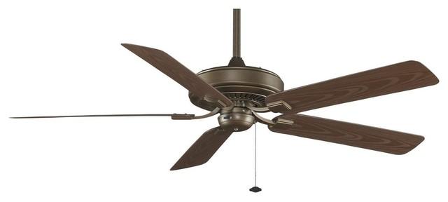 Tf971az Edgewood Deluxe 5 Blade Ceiling Fan, Aged Bronze.