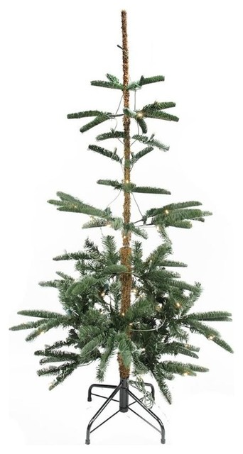 4.5' Pre-Lit Layered Noble Fir Artificial Christmas Tree, Warm Clear LED Lights