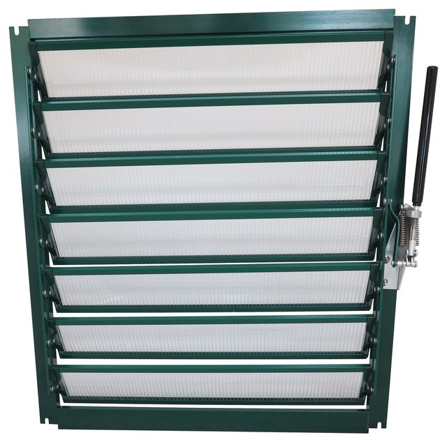 Grandio Greenhouse Wall Louver Window, With Auto Opener.