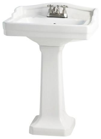 Essex Pedesta Sink, 8 Faucet Drilling.