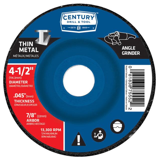 "Type 27a Abrasive Grinding Wheel, 4.5""x0.045"""