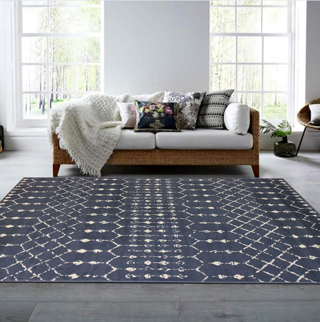 Isabella Home Gray Area Rug, 8&x27;x10&x27;.