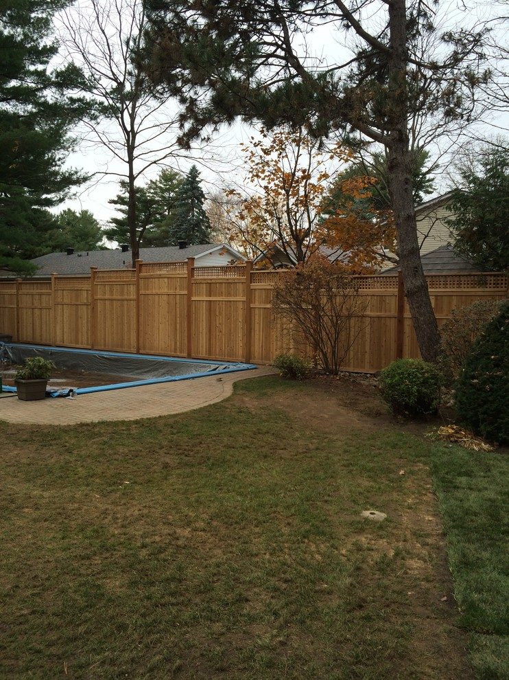 toungue & groove Cedar fence with 6 x 6 posts