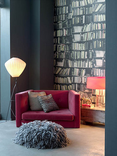 Abigail Aherns living room reading corner eclectic living room