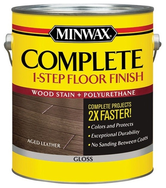 Minwax Complete 1 Step Floor Finish 1 Gallon Gloss Aged
