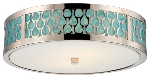 Satco Raindrop Contemporary / Modern LED Flush Mount Ceiling Light X-241/26