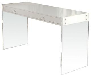 White Modern Desk. Mix And Chic Fabulous Finds Modern White Desks ...