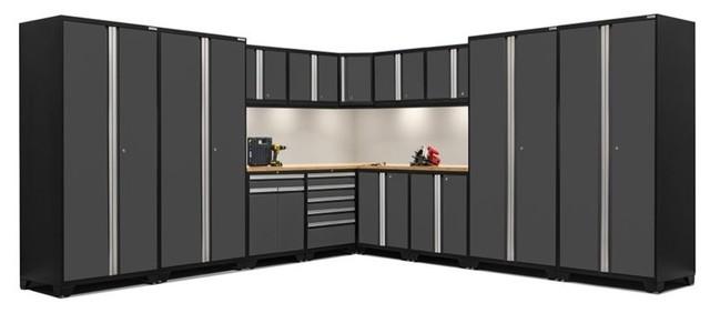 NewAge Pro Series 15-Piece Garage Corner Cabinet Set, Gray ...