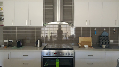 Kitchen Help   What Colour Splashback Over Brown Tiles?