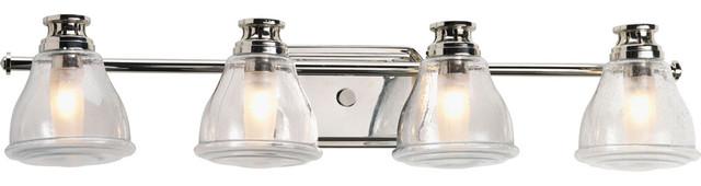 Bathroom Vanity Lights Clear Glass progress lighting p2813-xxwb 4-light bathroom lighting